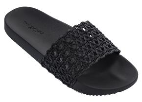 Zaxy Sandals - Snap Mesh Slide Black
