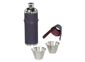 Ted Baker Hip Flask With Shot Cups - 969 Blue