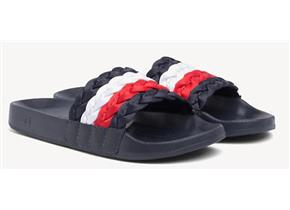 Tommy Hilfiger Sandals - Corporate Hilfiger Pool Slide Navy Multi