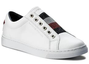 Tommy Hilfiger Shoes - Crystal Leather Slip On Sneaker White