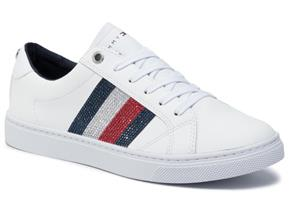 Tommy Hilfiger Shoes - Crystal Leather Casual Sneaker White