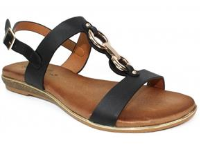 Lunar Sandals - Maldives JLH113 Black