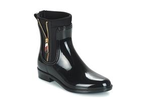 Tommy Hilfiger Boots - Material Mix Rainboot Black