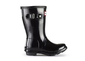 Hunter Childrens Gloss Original Wellies - Black