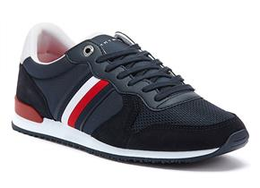 Tommy Hilfiger Shoes - Iconic Material Mix Runner Navy