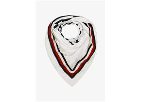 Tommy Hilfiger Accessories - Bold Tommy Square Scarf White Multi