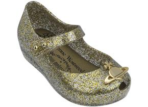 Vivienne Westwood + Melissa Shoes - Mini VW Ultragirl Gold