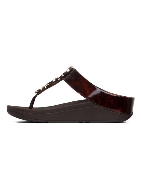0da6a3e57b3e FitFlop™ Sandals - Halo™ Tortoiseshell Chocolate - Buy Fitflop Online
