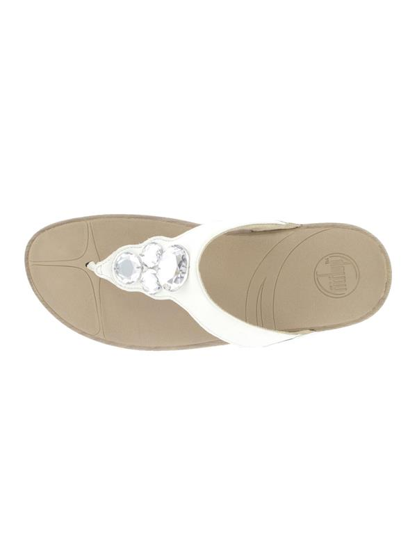 6ddba2cc3e4d FitFlop Sandals Lunetta White - Buy Fitflop Online from Pettits